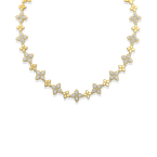 Roberto Coin 18KT GOLD ALTERNATING DIAMOND NECKLACE