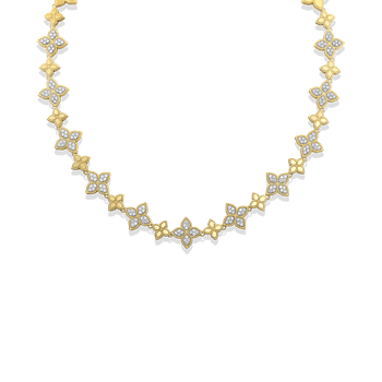 18KT GOLD ALTERNATING DIAMOND NECKLACE