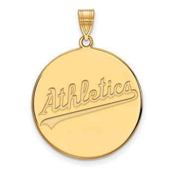 Gold Oakland Athletics MLB Pendant