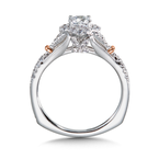 Valina Diamond Engagement Ring Mounting in 14K White and Rose Gold (0.40 ct. tw.)