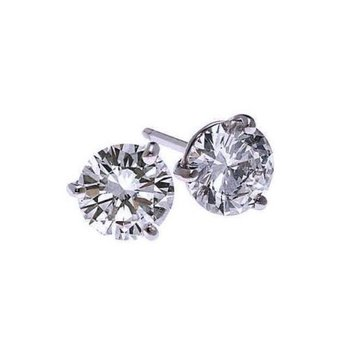 Diamond Stud Earrings in 18K White Gold (1/4 ct. tw.) SI2 - G/H
