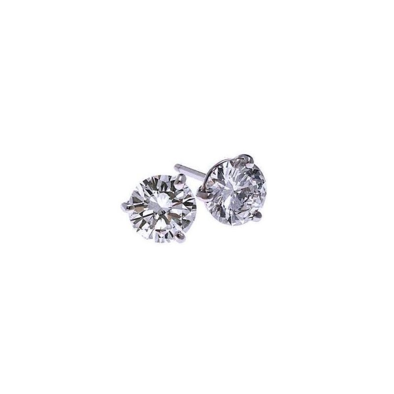Gems One Diamond Stud Earrings in 18K White Gold (1/4 ct. tw.) SI2 - G/H
