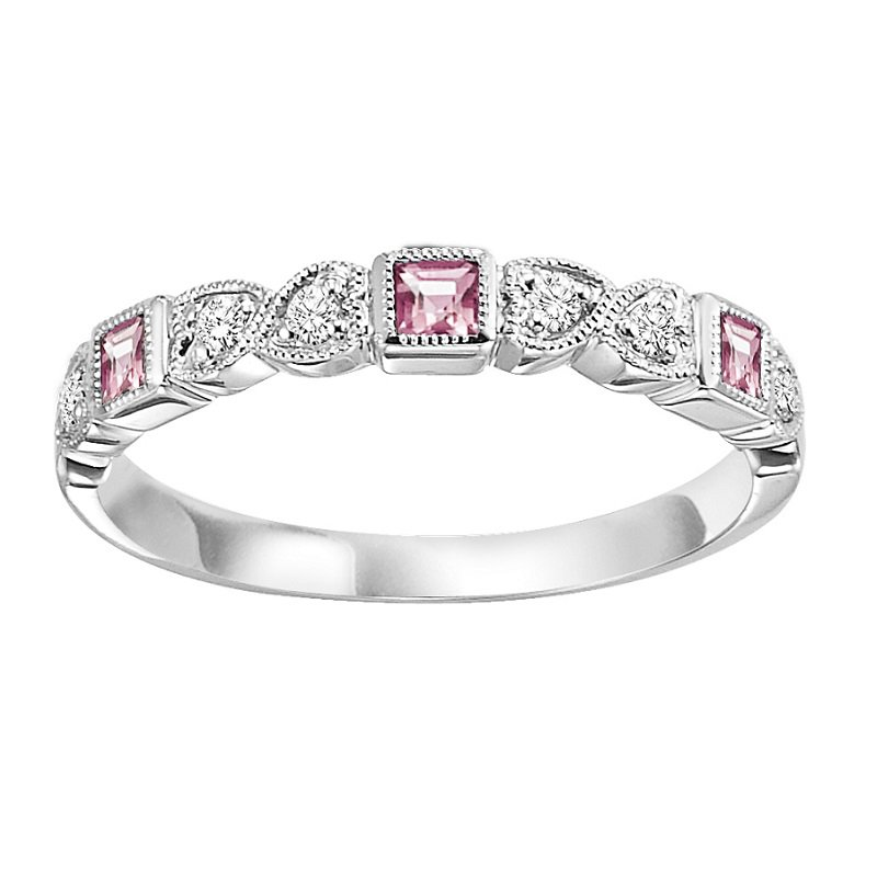 Mixables 14K Pink Tourmaline & Diamond Mixable Ring