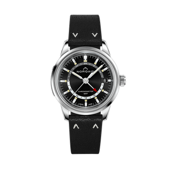 Freedom 60 GMT - Black Leather Strap