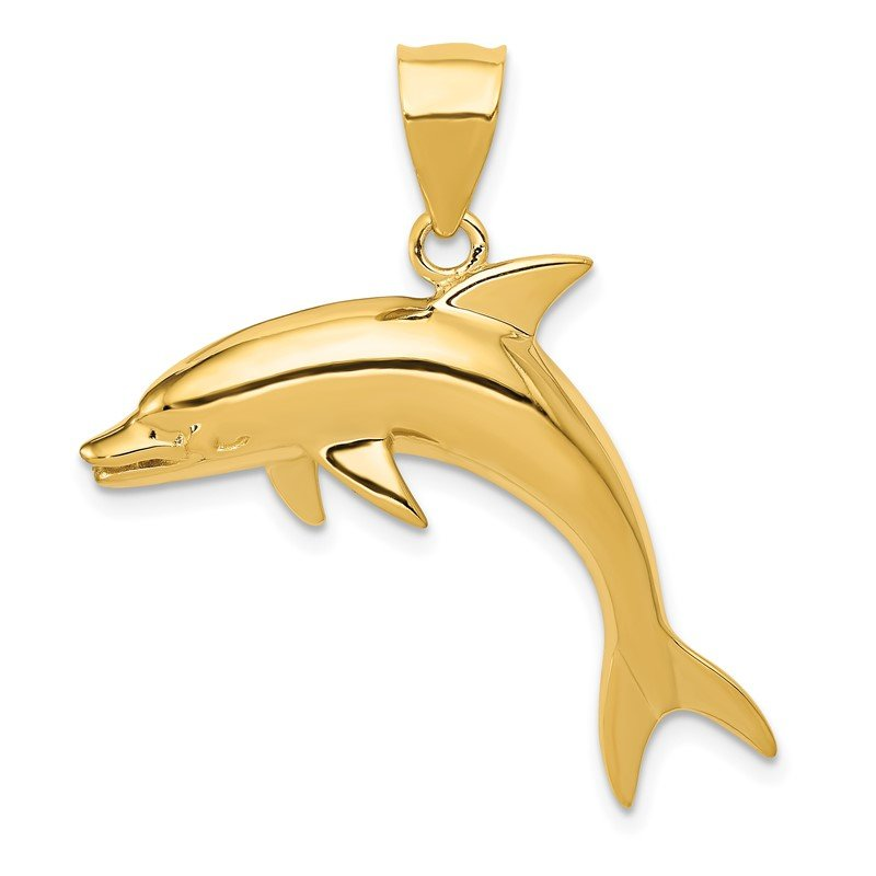 Quality Gold 14k Dolphin Pendant
