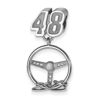 Sterling Silver 48 Jimmie Johnson NASCAR Bracelet