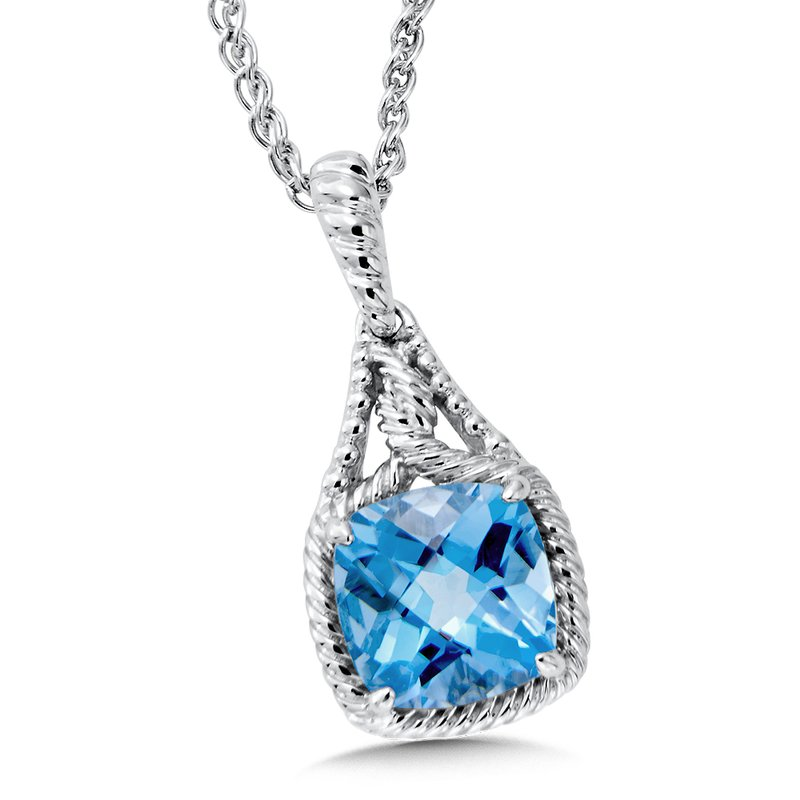 Colore Sg Sterling Silver Blue Topaz Pendant