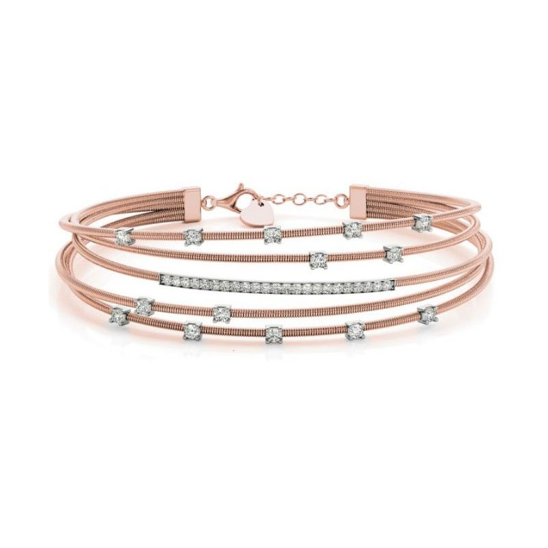 Briana Rose Gold Bangle Italian Made
