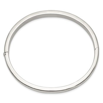 Sterling Silver 8.00mm Hinged Bangle