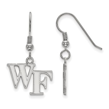Sterling Silver Wake Forest University NCAA Earrings