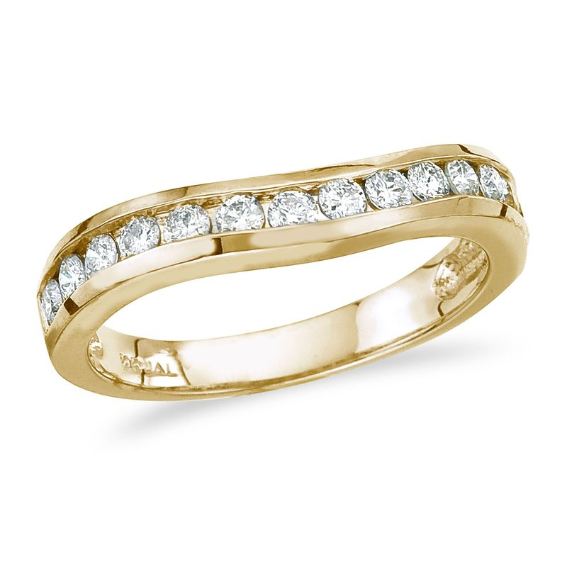 Marks Jewelers: Color Merchants 14K Yellow Gold  50 ct Diamond Wave