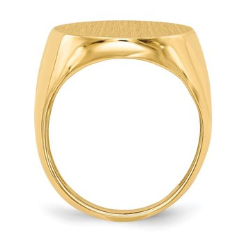 14k 22.0x18.0mm Open Back Men's Signet Ring