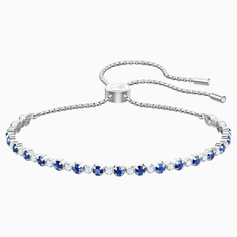 Swarovski Subtle Bracelet, Blue, Rhodium plated