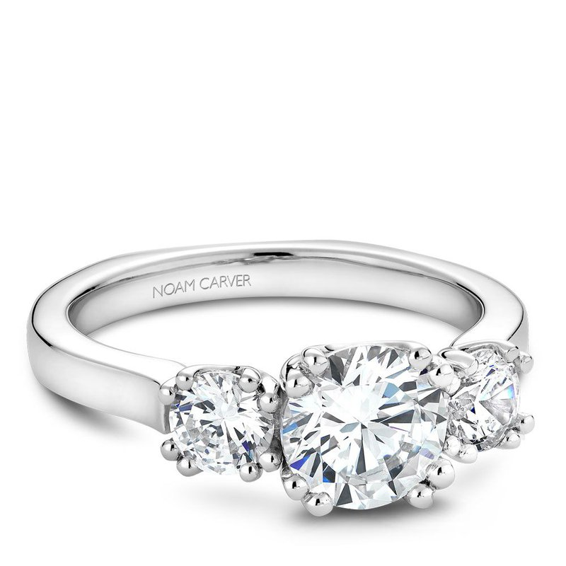 Noam Carver 3 Stone Engagement Ring B001-07A