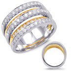 S. Kashi  & Sons Diamond Band Yellow & White Gold