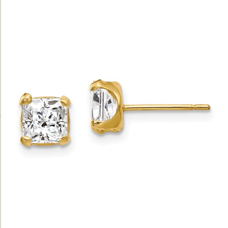 Quality Gold 14k Madi K 5mm Square CZ Post Earrings
