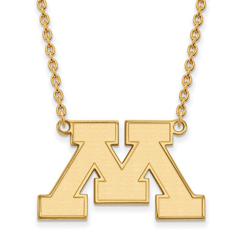 NCAA Gold-Plated Sterling Silver University of Minnesota NCAA Necklace