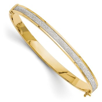 Leslie's 14K Fancy Glimmer Infused Hinged Bangle
