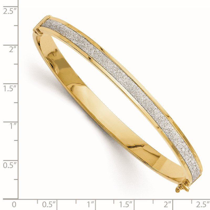 Leslie's Leslie's 14K Fancy Glimmer Infused Hinged Bangle