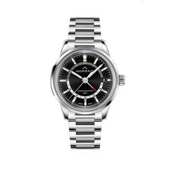 Freedom 60 GMT - Black Dial Stainless Steel Bracelet