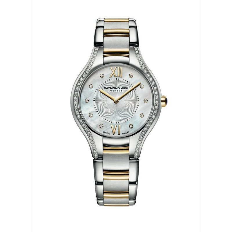 Raymond Weil Ladies Quartz Watch, 32 mm Two-tone 62 diamonds