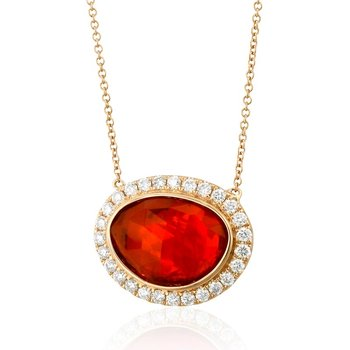 Fayal Fire Opal Necklace