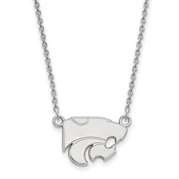 Sterling Silver Kansas State University NCAA Necklace