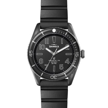 Watch: Duck 3H 42mm, Black Rubber Strap