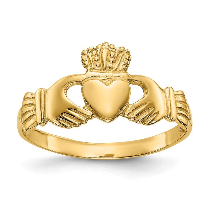 Quality Gold 14k Polished Ladie's Claddagh Ring