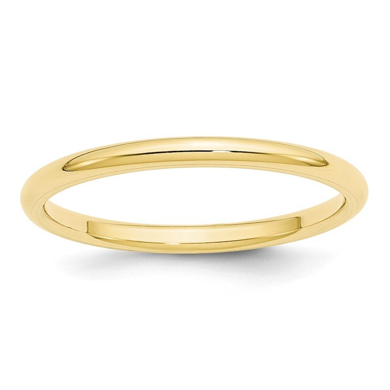 Quality Gold 10KY 2mm Standard Comfort Fit Band Size 10
