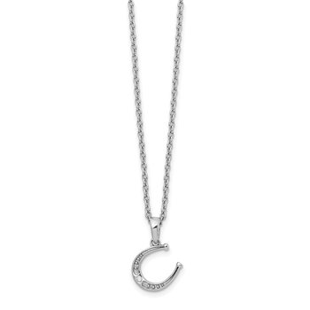 SS White Ice Diamond Horseshoe Necklace