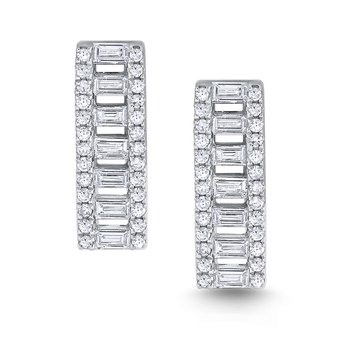 Diamond Metropolis Stud Earrings Set in 14 Kt. Gold