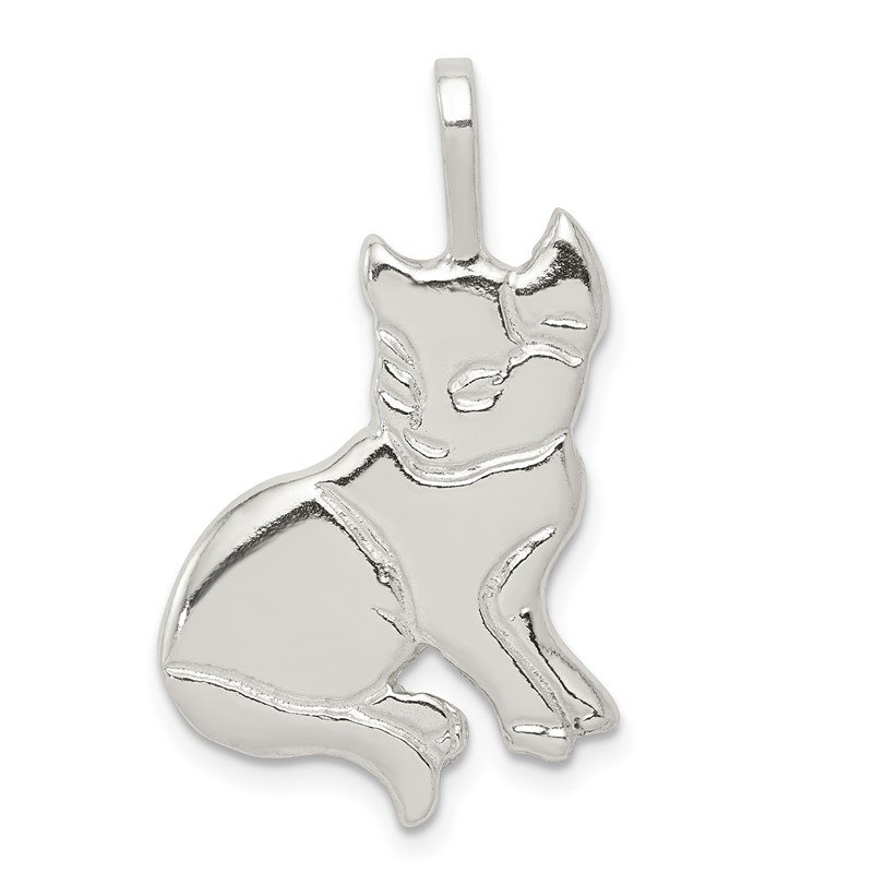 Quality Gold Sterling Silver Cat Charm