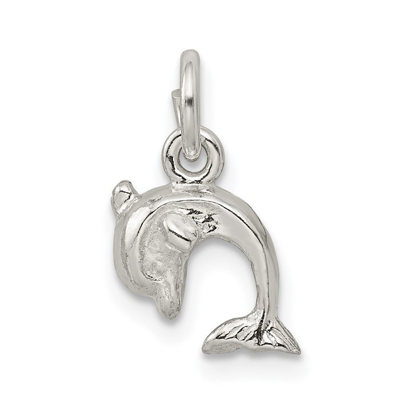Quality Gold Sterling Silver Dolphin Charm