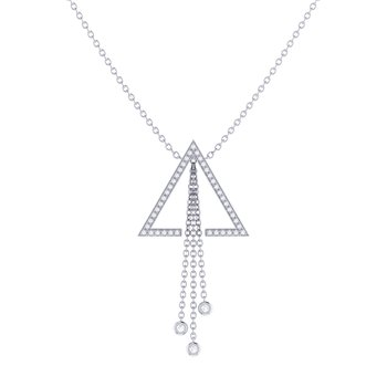 Skyline Lariat Necklace in Sterling Silver