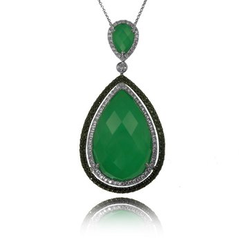Emerald Dreams Green Agate Necklace