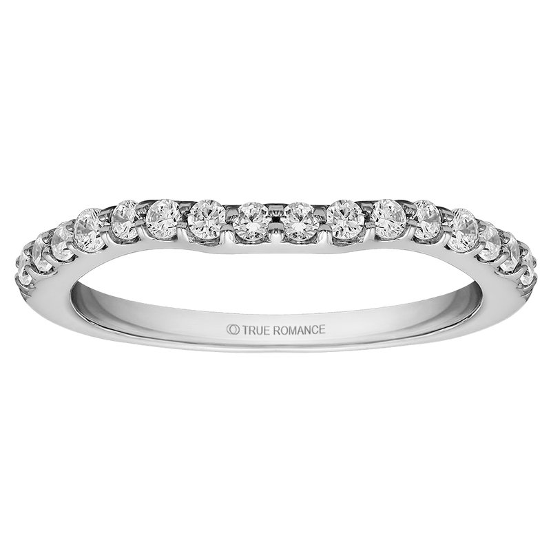 True Romance Round Cut Diamond Matching Wedding Band