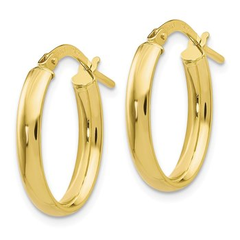 Leslie's 10K Polished Yellow Gold Hoop Earrings