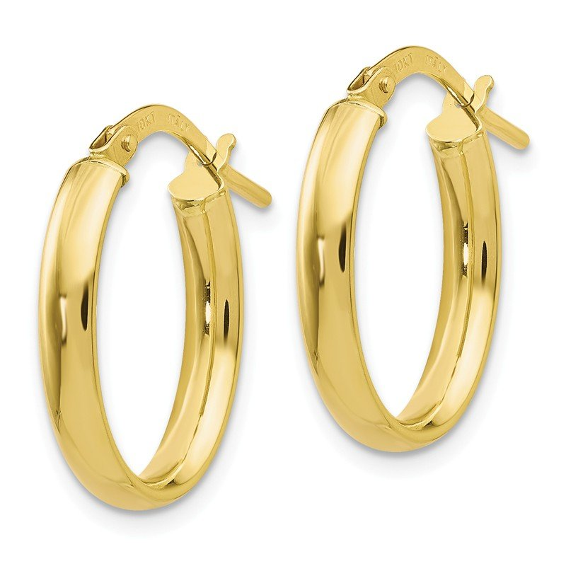 Leslie's Leslie's 10K Polished Yellow Gold Hoop Earrings