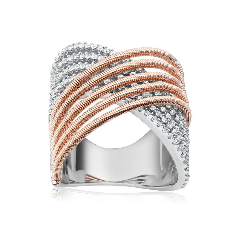 LARUS Jewelry Five Band Coil Wire Ring