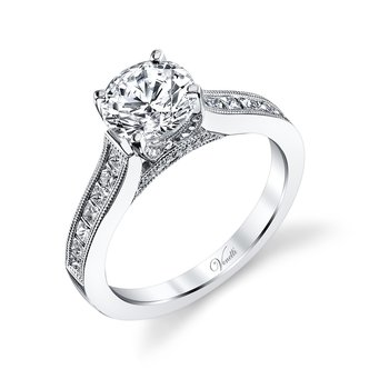 14K W RING  34RD 0.08CT 14PC 0.52CT