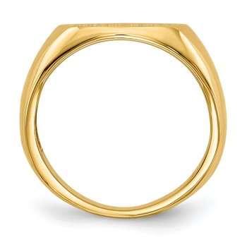 14k 9.5x12.5mm Open Back Signet Ring
