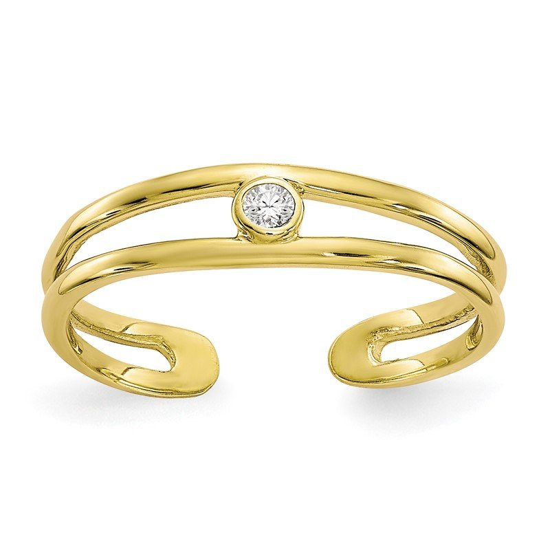 Fine Jewelry by JBD 10k CZ Toe Ring