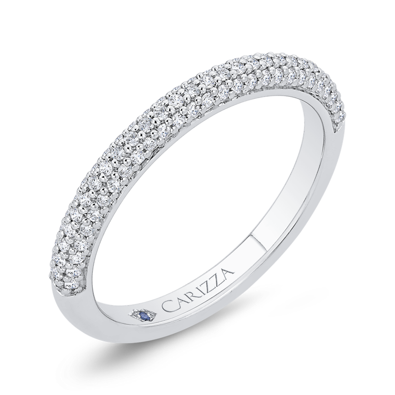 Carizza 14K White Gold Diamond Wedding Band