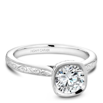 Noam Carver Vintage Engagement Ring B140-13EA