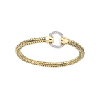 Roberto Coin 18Kt Yellow And White Gold Bangle With Diamond Circle Station