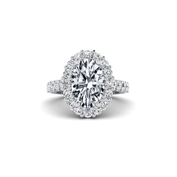 OMG Series Flowery Oval Diamond Engagement Ring