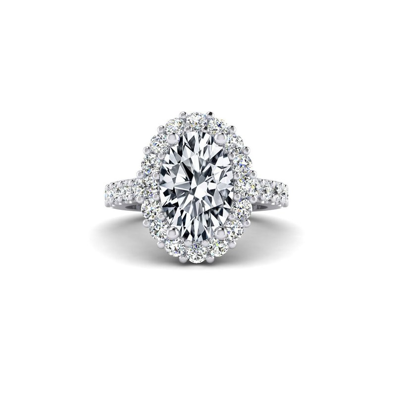 Toodie's Bridal OMG Series Flowery Oval Diamond Engagement Ring