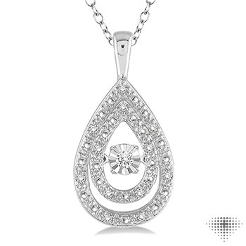Silver Emotion Diamond Pendant