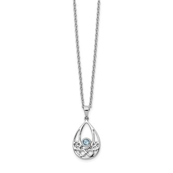 SS White Ice w/ Blue Topaz Necklace